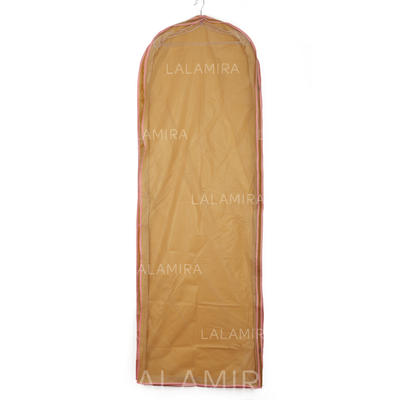 Garment Bags Gown Length Side Zip Tulle/PVC Champagne Wedding Garment Bag (035192281)