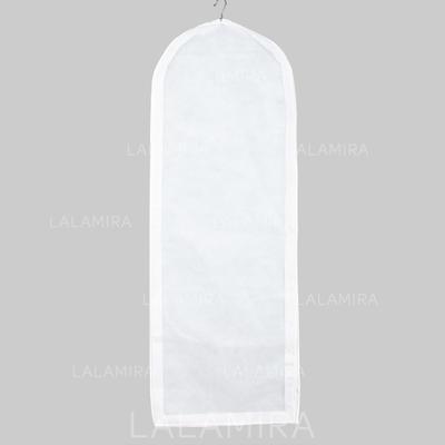 Bianco Elegante Traspirante Abito di lunghezza Borse porta abiti (035024117)