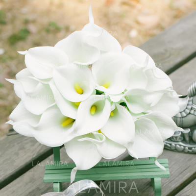 """Bridesmaid Bouquets Round Wedding PE/Lace 10.24""""(Approx.26cm) Wedding Flowers (123189105)"""