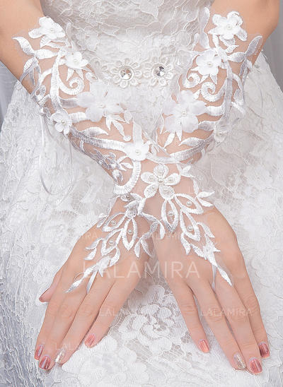 Tulle Ladies' Gloves Bridal Gloves Fingerless 30cm(Approx.11.81inch) Gloves (014192236)