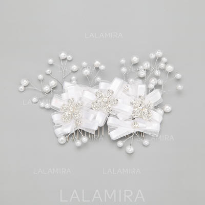"""Combs & Barrettes Wedding/Special Occasion/Party Alloy/Imitation Pearls 7.09""""(Approx.18cm) 3.94""""(Approx.10cm) Headpieces (042154863)"""