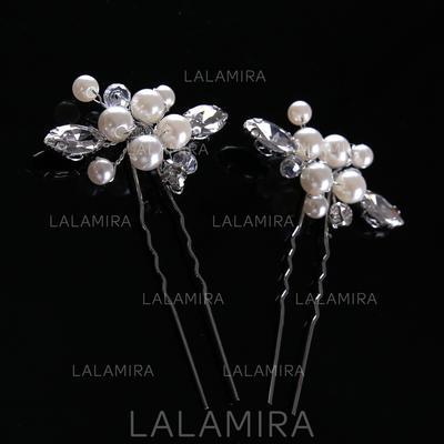 Señoras Estilo clásico La perla de faux Horquillas (Juego de 2) (042116286)