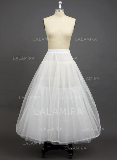 Petticoats Floor-length Tulle Netting/Polyester A-Line Slip 3 Tiers Petticoats (037190723)