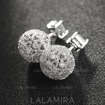 Earrings Rhinestones/Copper Pierced Ladies' Chic Wedding & Party Jewelry (011168071)