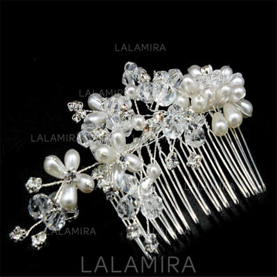 "Combs & Barrettes Wedding/Special Occasion/Casual/Outdoor/Party/Carnival/Art photography Crystal/Imitation Pearls 5.91""(Approx.15cm) 3.15""(Approx.8cm) Headpieces (042159315)"