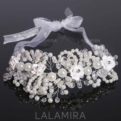 Elegant Crystal/Imitert Perle/Polymeren Leire Pannebånd (Selges i ett stykke) (042130210)