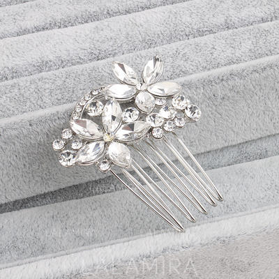 """Combs & Barrettes Wedding/Special Occasion Rhinestone/Alloy 1.69""""(Approx.4.3cm) 1.97""""(Approx.5cm) Headpieces (042158051)"""