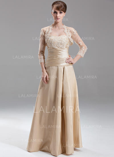 Sweetheart Floor-Length Taffeta Magnificent Bridesmaid Dresses (007197349)