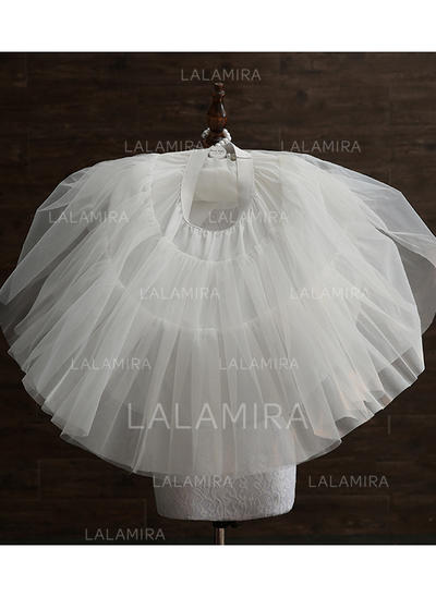 Jupons Tissu tulle/Taffeta Combinaison a-ligne 3 couches Mariage Jupons (037120309)