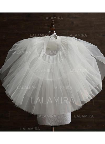 Petticoats Tulle Netting/Taffeta A-Line Slip 3 Tiers Wedding Petticoats (037190867)
