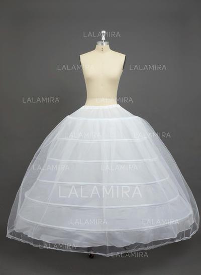Petticoats Floor-length Nylon/Tulle Netting Ball Gown Slip 2 Tiers Petticoats (037190731)