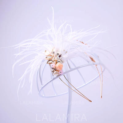 "Tiaras Wedding/Special Occasion/Party Alloy/Feather 5.91""(Approx.15cm) 5.91""(Approx.15cm) Headpieces (042157399)"