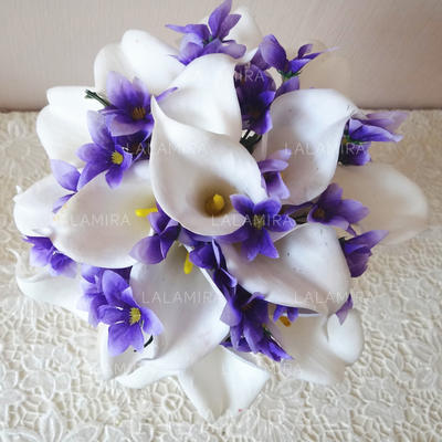 """Bridal Bouquets Hand-tied 8.66""""(Approx.22cm) 9.84""""(Approx.25cm) Color & Style representation may vary by monitor/Not responsible for typographical or pictorial errors. Wedding Flowers (123188584)"""