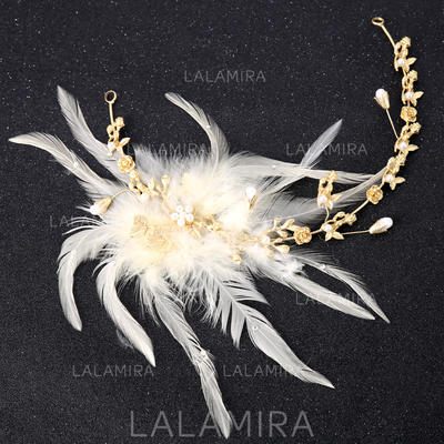 Señoras Hermoso Aleación/Pluma Diademas (Se venden en una sola pieza) (042152669)
