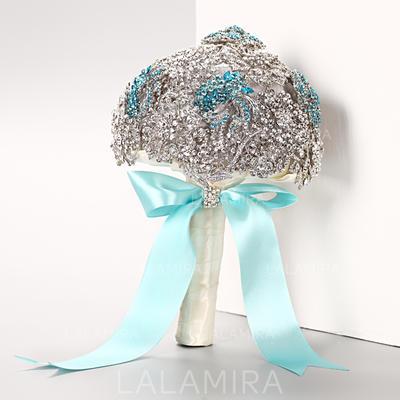 Atractivo Redondo Rhinestone Ramos de novia - (123069301)