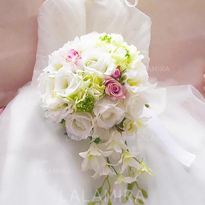 Brude Buketter Fri Form Bryllup Satin Bryllupsblomster (123119687)