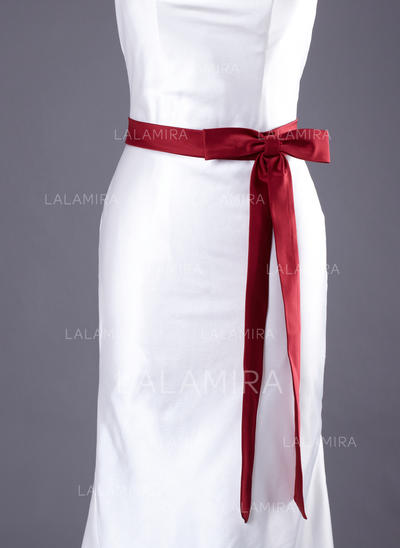 Women Satin With Bow Sash Simple Sashes & Belts (015190952)