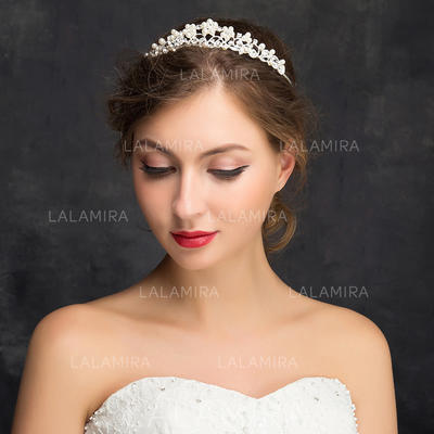 """Tiaras Wedding/Special Occasion/Party Rhinestone/Alloy 5.91""""(Approx.15cm) 1.14""""(Approx.2.9cm) Headpieces (042158020)"""