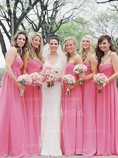 A-Line/Princess Sweetheart Floor-Length Bridesmaid Dresses With Ruffle (007218561)