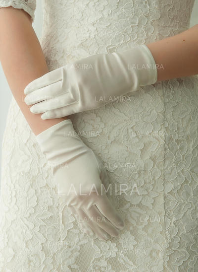 Satin Ladies' Gloves Wrist Length Bridal Gloves Fingertips Gloves (014192203)