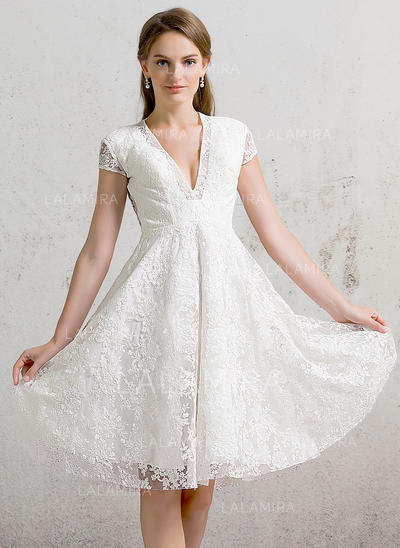 Lace A-Line/Princess With Magnificent General Plus Wedding Dresses (002088472)