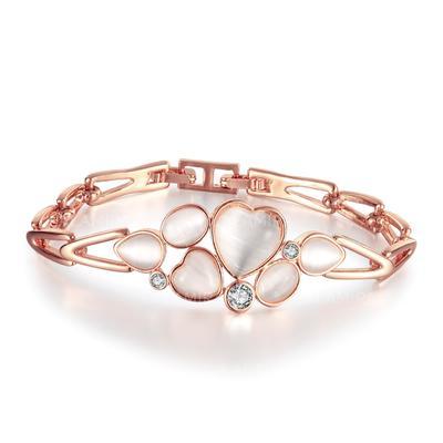 "Bracelets Czech Stones/Gold Plated Ladies' Beautiful 1.57 ""(Approx.4cm) Wedding & Party Jewelry (011166468)"