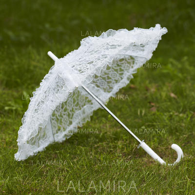 Wedding Umbrellas Bridal Parasols Women's Wedding Hook Handle Wedding Umbrellas (124148564)