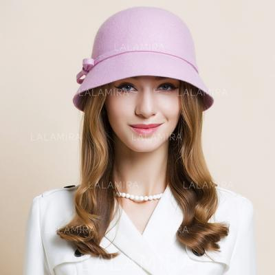Wool Bowler/Cloche Hat Eye-catching Ladies' Hats (196193694)