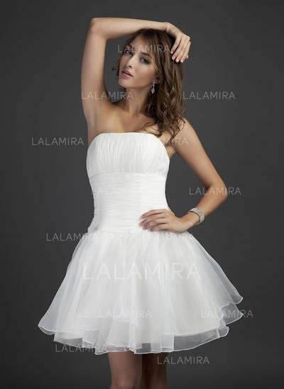 Short/Mini A-Line/Princess Sleeveless Organza Bridesmaid Dresses (007051839)