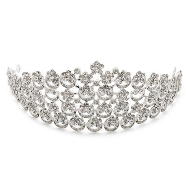 "Tiaras Wedding/Special Occasion/Party Rhinestone/Alloy 11.02""(Approx.28cm) 2.76""(Approx.7cm) Headpieces (042154337)"
