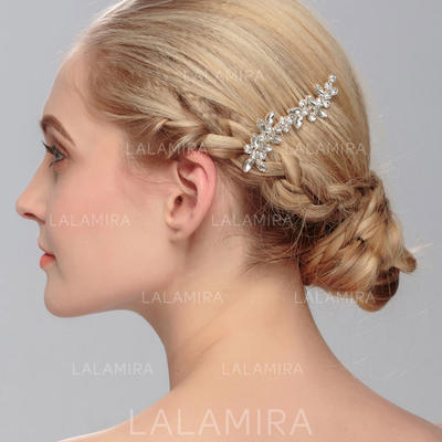 "Combs & Barrettes Wedding Rhinestone/Alloy 3.35""(Approx.8.5cm) 2.09""(Approx.5.3cm) Headpieces (042158061)"