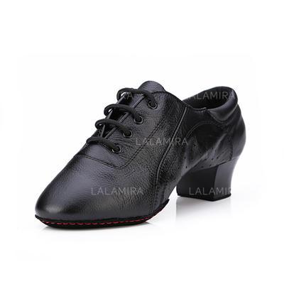 Women's Practice Heels Pumps Leatherette With Lace-up Dance Shoes (053178365)