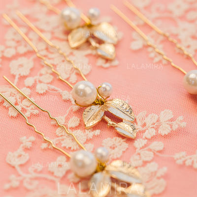 """Hairpins Wedding/Party Alloy/Imitation Pearls 1.57""""(Approx.4cm) 3.94""""(Approx.10cm) Headpieces (042155155)"""