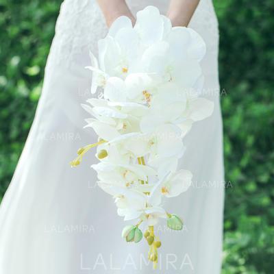 "Bridal Bouquets Cascade Wedding Artificial Silk 9.84""(Approx.25cm) Wedding Flowers (123189139)"