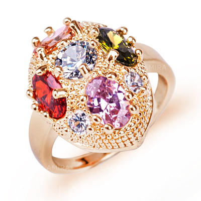 Rings Zircon/Platinum Plated Ladies' Attractive Wedding & Party Jewelry (011166722)