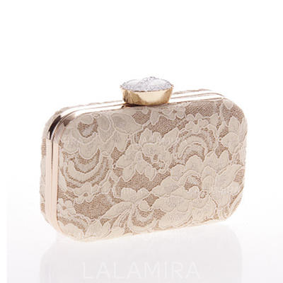 Clutches Ceremony & Party Alloy Magnetic Closure Elegant Clutches & Evening Bags (012188155)