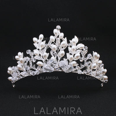 "Tiaras Wedding Imitation Pearls 4.92""(Approx.12.5cm) 2.36""(Approx.6cm) Headpieces (042159256)"