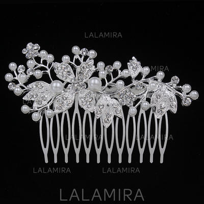 """Combs & Barrettes Wedding/Special Occasion/Party Alloy 3.54""""(Approx.9cm) 2.17""""(Approx.5.5cm) Headpieces (042156885)"""