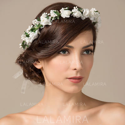 "Flower Girl's Headwear/Flowers & Feathers Wedding/Special Occasion/Party Foam/Paper 6.3""(Approx.16cm) Glamourous Headpieces (042154440)"