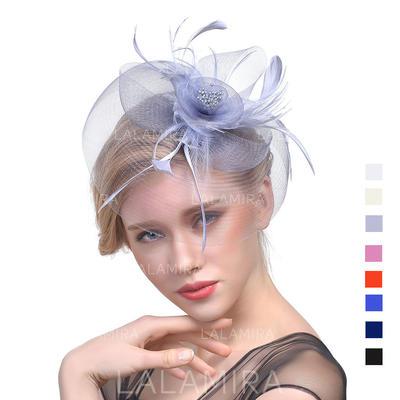 Cambric med Fjær Fascinators Klassisk stil Damene ' Hatter (196119281)