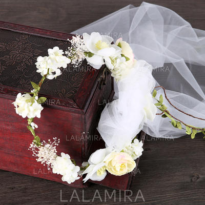 """Headbands Wedding/Special Occasion Silk Flower/Voile 19.7""""(Approx.50cm) 1.97""""(Approx.5cm) Headpieces (042159368)"""