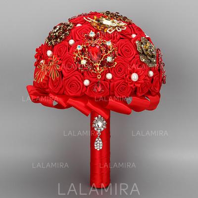 Estilo clásico Redondo Satén Ramos de novia (vendido en una sola pieza) - Ramos de novia (123131827)
