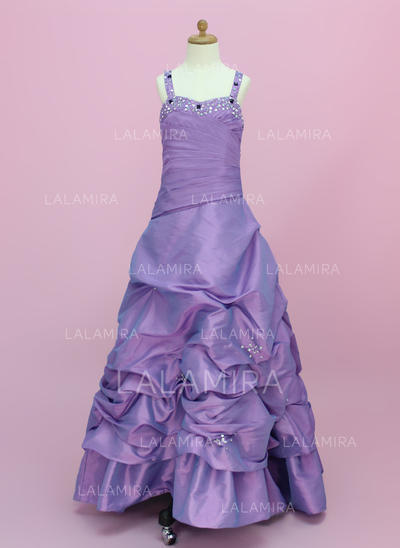 Luxurious Sweetheart A-Line/Princess Taffeta Flower Girl Dresses (010002150)
