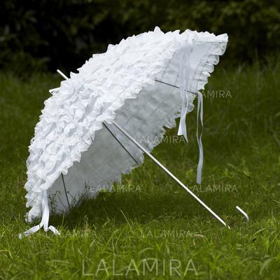 Wedding Umbrellas Bridal Parasols Women's Wedding Hook Handle Wedding Umbrellas (124148549)