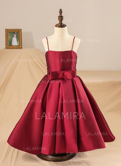 Straps Ball Gown Flower Girl Dresses