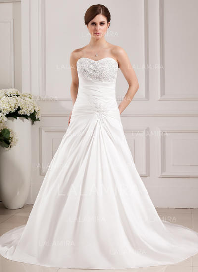 Taffeta Sweetheart Sleeveless - Magnificent Wedding Dresses (002000468)