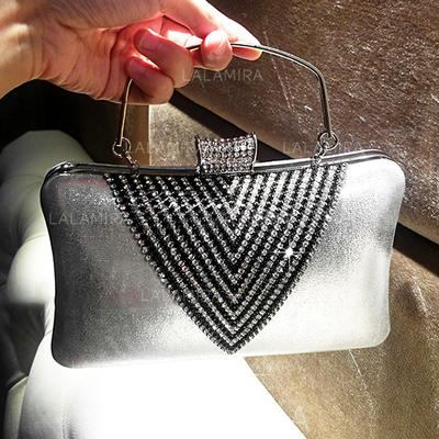 "Clutches/Totes Ceremony & Party Crystal/ Rhinestone/PU Classical 8.27""(Approx.21cm) Clutches & Evening Bags (012187279)"