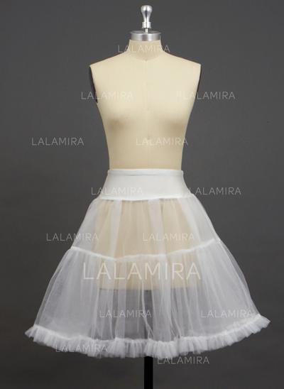 Petticoats Knee-length Tulle Netting/Spandex A-Line Slip/Half Slip 2 Tiers Petticoats (037190740)