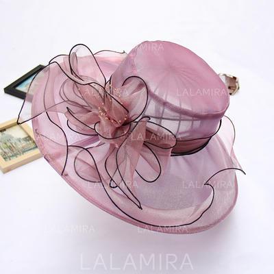 Organza With Silk Flower Floppy Hat Charming Ladies' Hats (196194627)