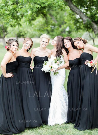 A-Line/Princess Sweetheart Floor-Length Bridesmaid Dresses With Ruffle (007218560)